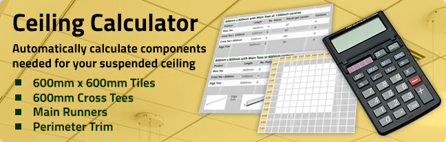 Try our suspended ceiling calculator